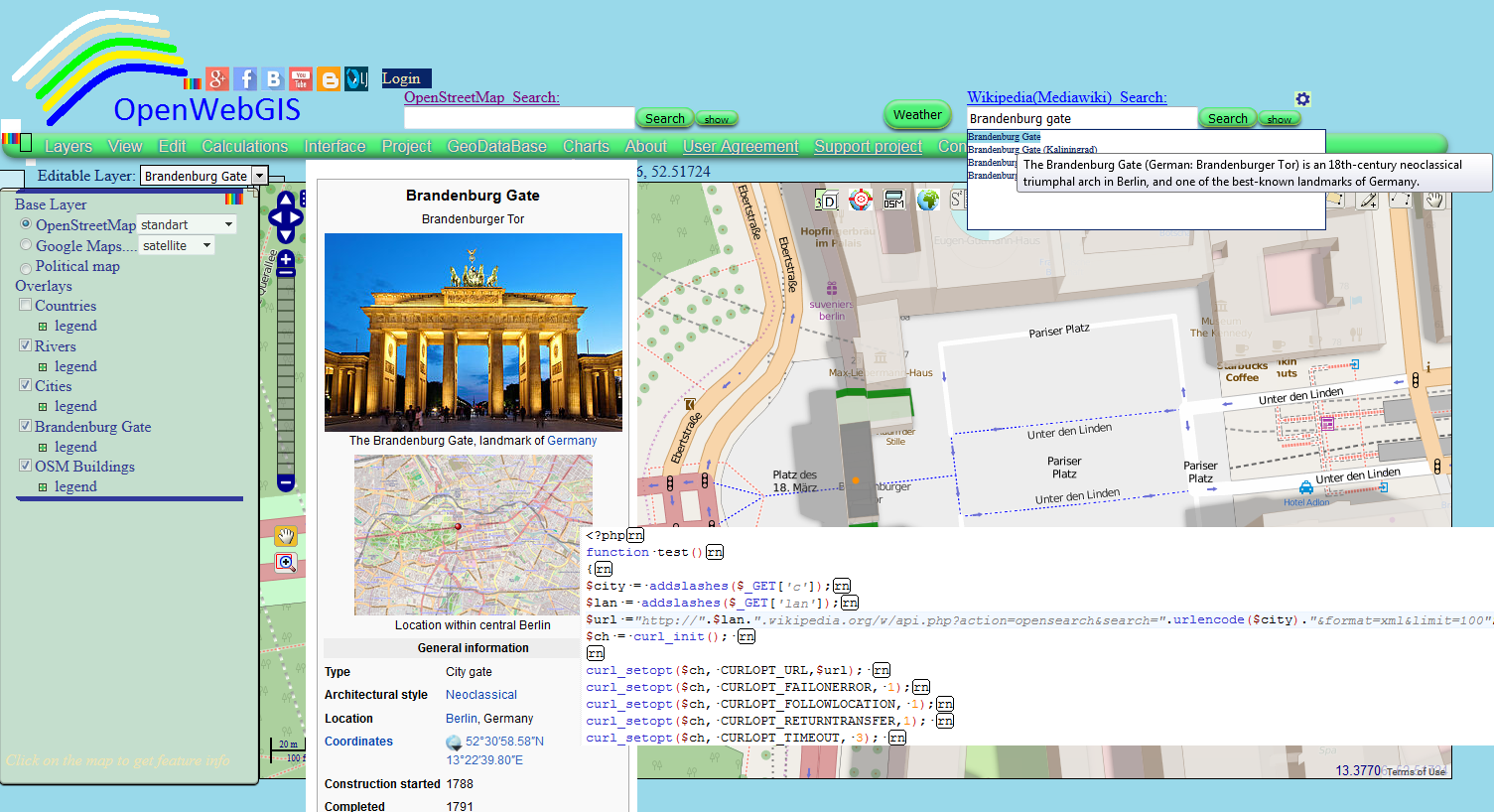 OpenWebGIS is free online GIS: Integrating your map service ... on world maps online, paper maps online, copies of deeds online, birth certificates online, texas plat maps online, gps maps online, 3d maps online, voting online, internet maps online, library online, design maps online, geography maps online, land surveying maps online, washington maps online, business maps online, usgs maps online, kern county maps online, large map of us online, schools online, topo maps online,