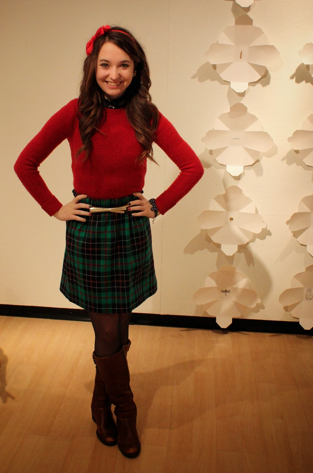 2a4614f3733d Sweater: Rugby Ralph Lauren (old), shirt: J. Crew (got it on sale in store  for $28!), skirt: J. Crew, belt: Lilly Pulitzer, tights: J. Crew, headband:  J. ...