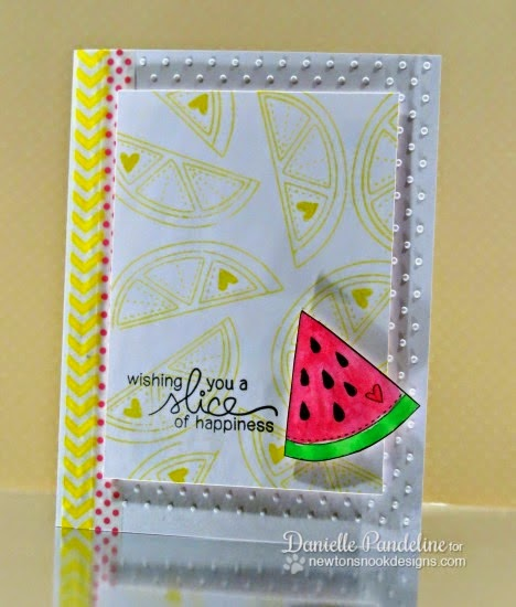 A Slice of Happiness | featuring Newton's Nook Designs Stamps | created by Danielle Pandeline