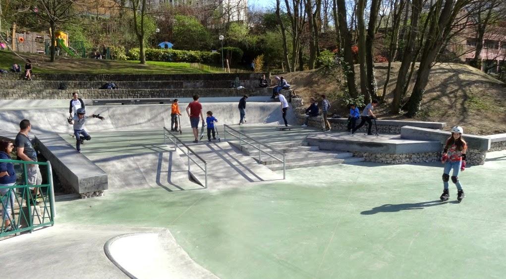 Skatepark parc Rodin Issy