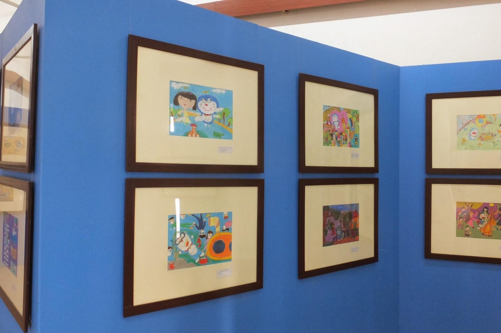 doraemon-exhibition-hanoi ドラえもんお絵描き展3