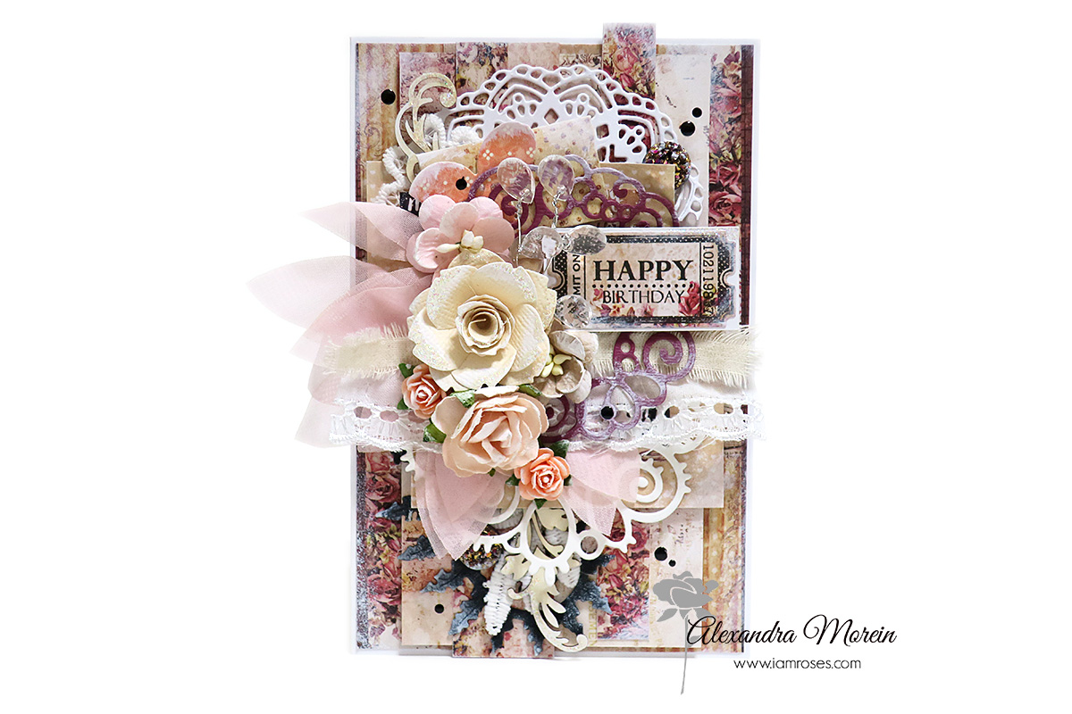 Clayguana a happy birthday card with iar flowers and prima paper a happy birthday card with iar flowers and prima paper mightylinksfo
