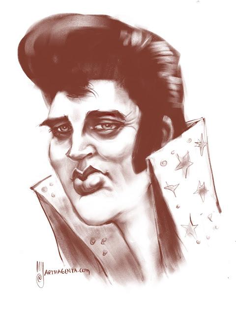 Elvis Presley caricature by Artmagenta