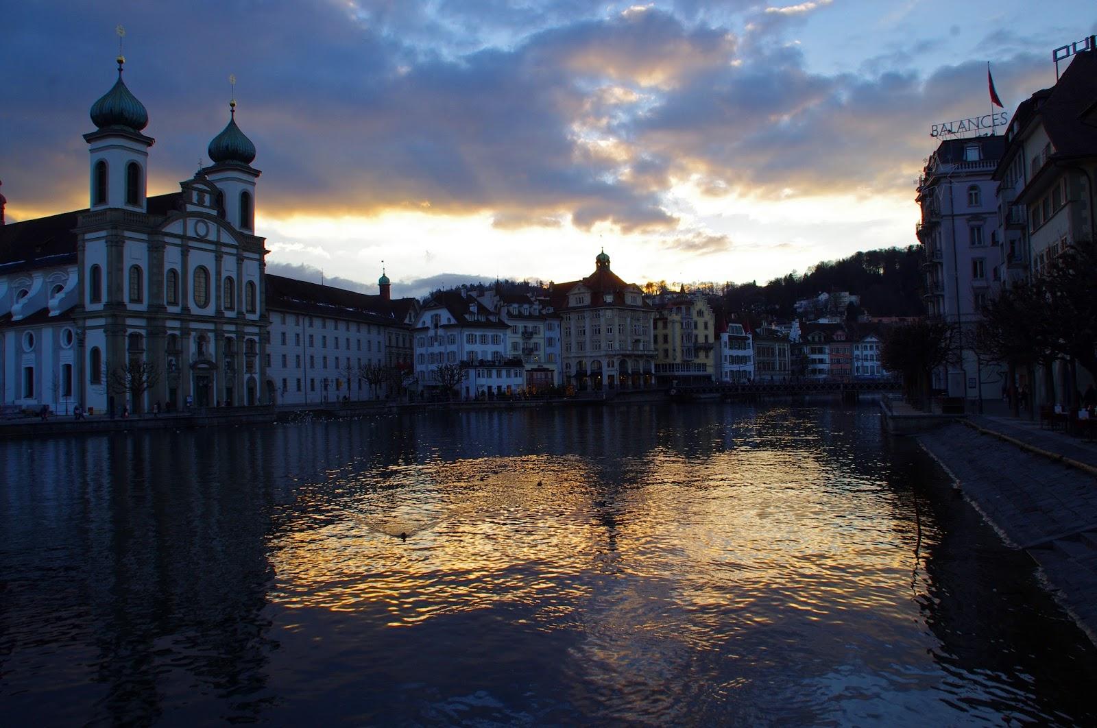 Lucerne Switzerland Sunset
