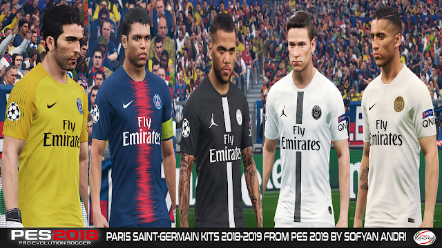 PES 2018 Paris Saint-Germain Kits 2018-2019 From PES 2019 By Sofyan Andri
