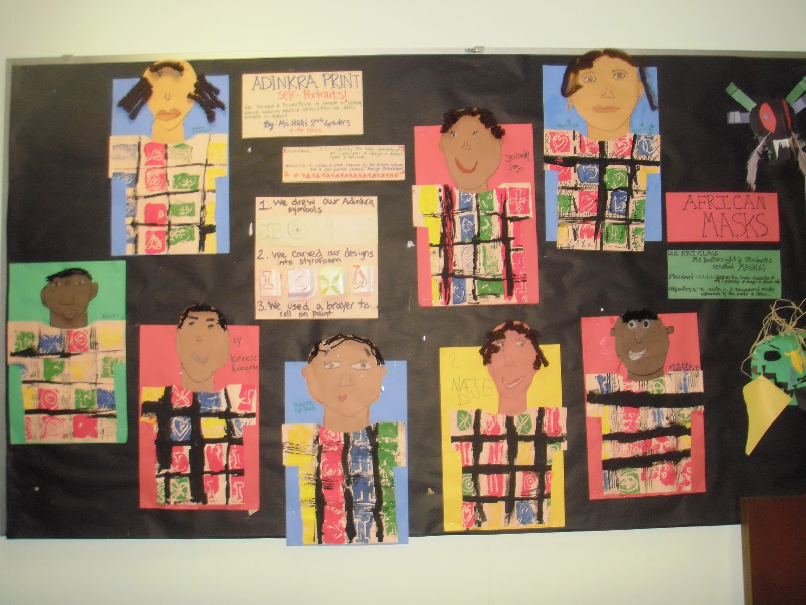 Little Hands Create Big Art Black History Month Displays