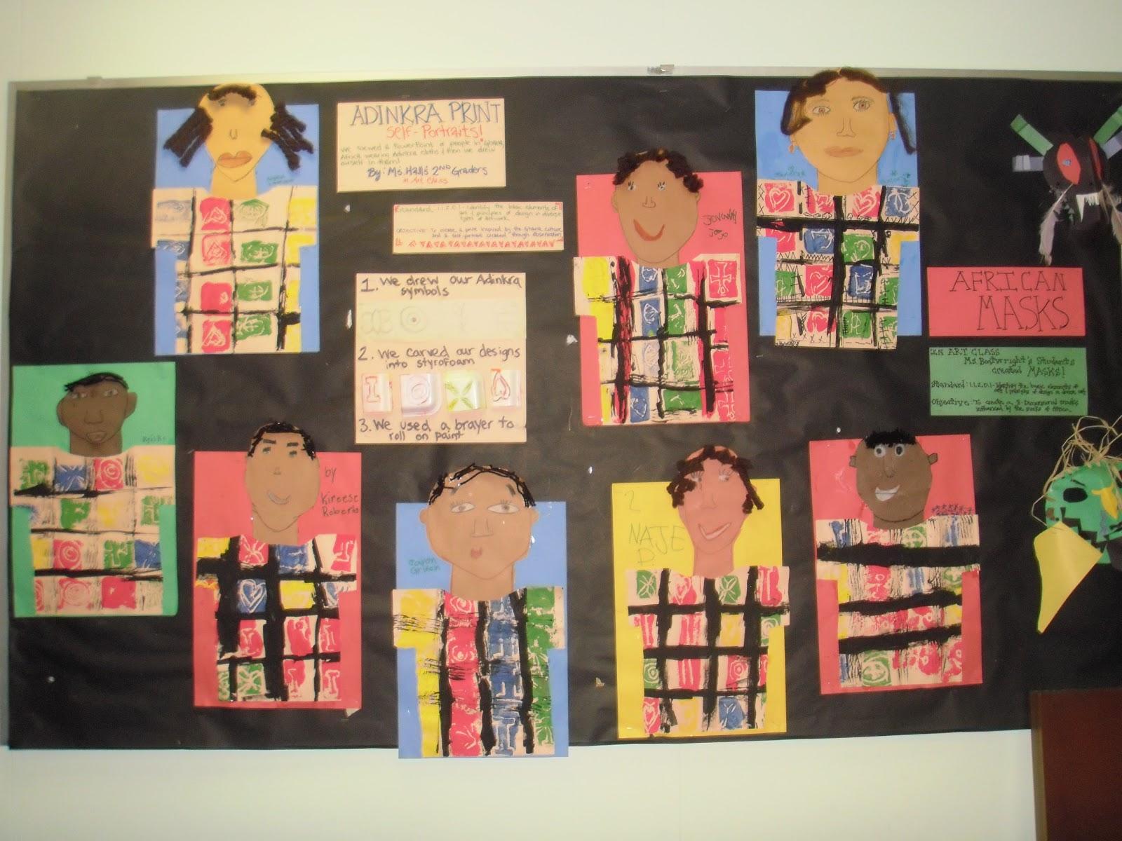 Little Hands Create Big Art Black History Month Displays