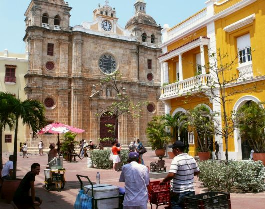 San Pedro Square Cathedral in Cartagena, Colombia