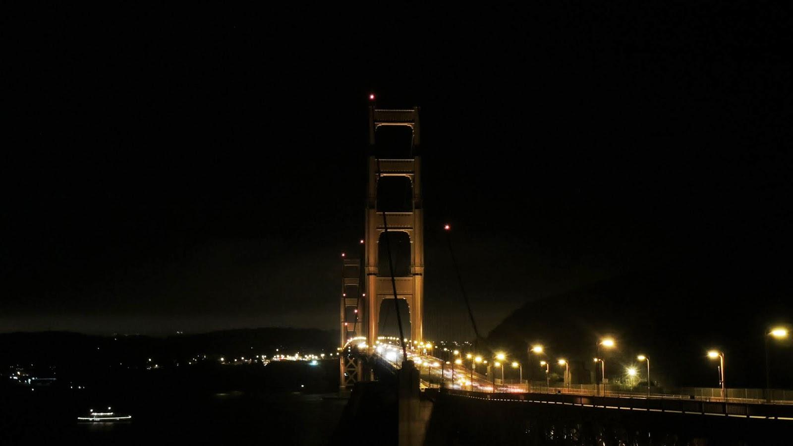 晚上的金門大橋