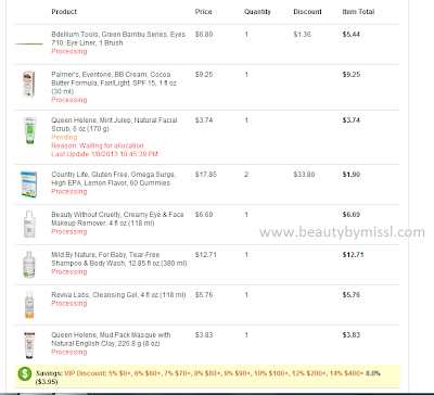 iHerb.com order, shopping, online shopping