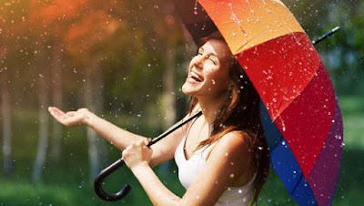 girl hold umbrella under the rain seasons change  امرأة فتاة بنت تحمل مظله شمسية تحت المطر الامطار تغيير الفصول