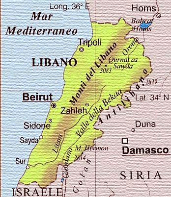 Cartina Israele Libano.Ora Pro Siria Grande Attesa Della Visita Del Papa In Libano Una Scheda Per Comprendere La Situazione Di Questo Fragile Paese