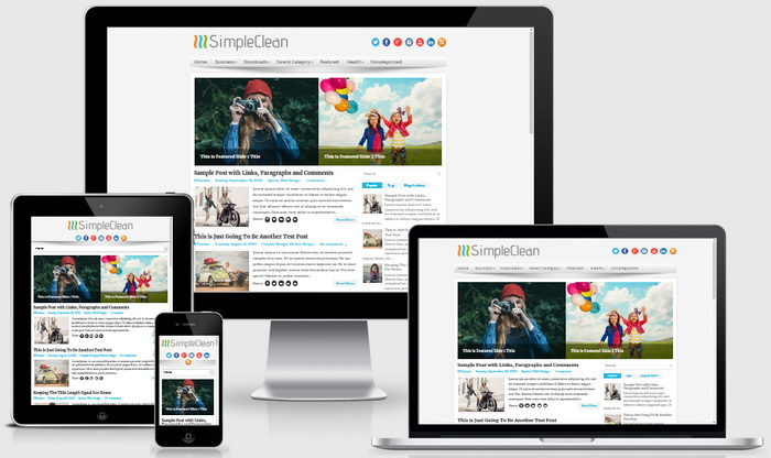 fully responsive blogger subject alongside a correct sidebar in addition to  Free Download SimpleClean