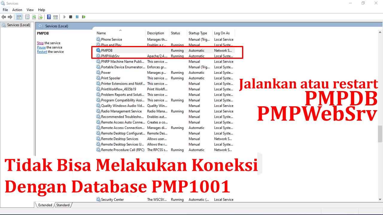 Trik Jika Tidak Bisa Melakukan Koneksi Dengan Database PMP1001