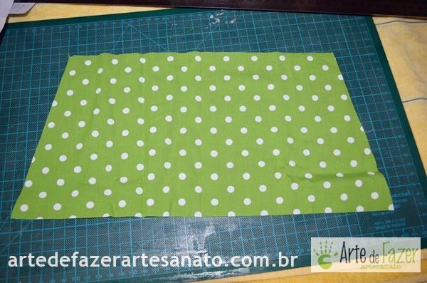 Tecido bolinhas para o busto | passo a passo para fazer o avental