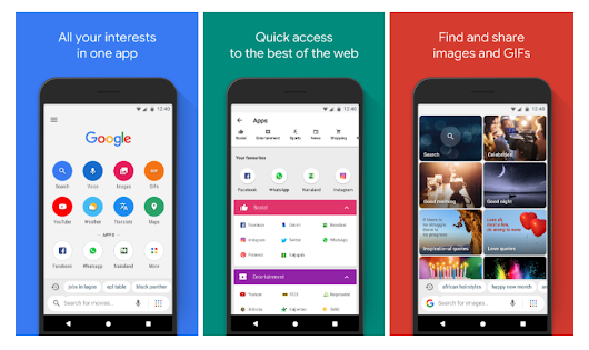 Introducing Google Go; A lighter, faster way to search.