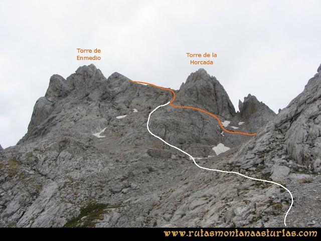 Ruta Pan de Carmen, Torre de Enmedio: Torre de Enmedio y de la Horcada