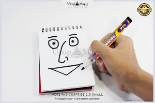 Jual alat sulap Notepad Surprise 2.0 Small Size