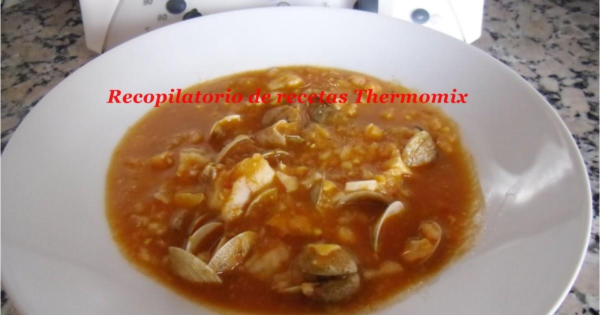recopilatorio de recetas thermomix sopa de pescado en thermomix varoma. Black Bedroom Furniture Sets. Home Design Ideas