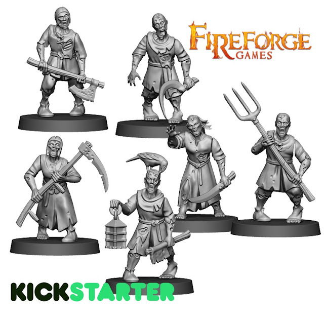 Breaking! Fireforge Games: New Plastic Fantasy Forgotten World Undead Civilians Preview