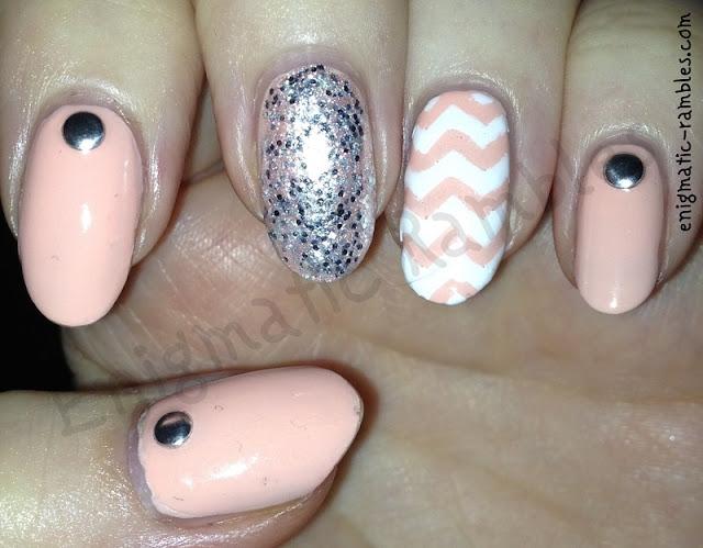 Peach-chervron-nails-nail-art-nails-inc-star-street-leighton-denny