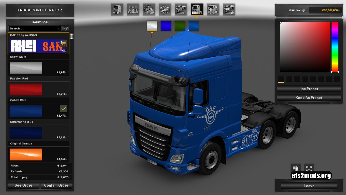 DAF E6 Custom Metallic Skin