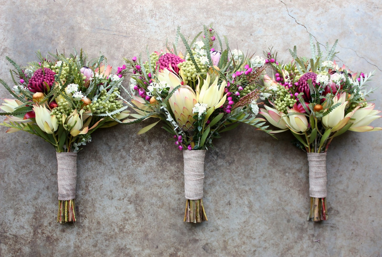 Swallows Nest Farm: Waratah Wedding Bouquets