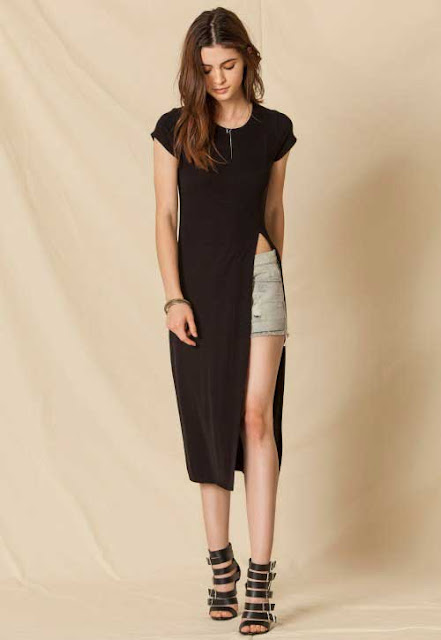 Side Slit Long Top