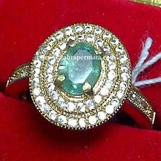 Cincin Lady Batu Jamrud Colombia - ZP 720