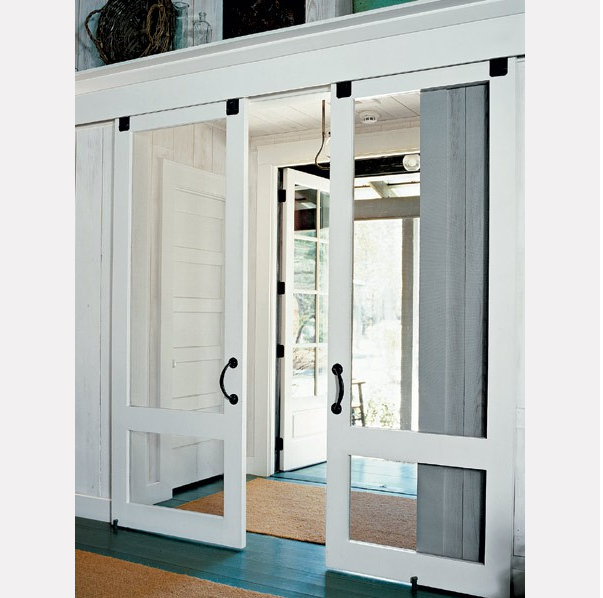 Diy Sliding Screen Door For French Doors: Glamour Begins At Home: Born In A Barn