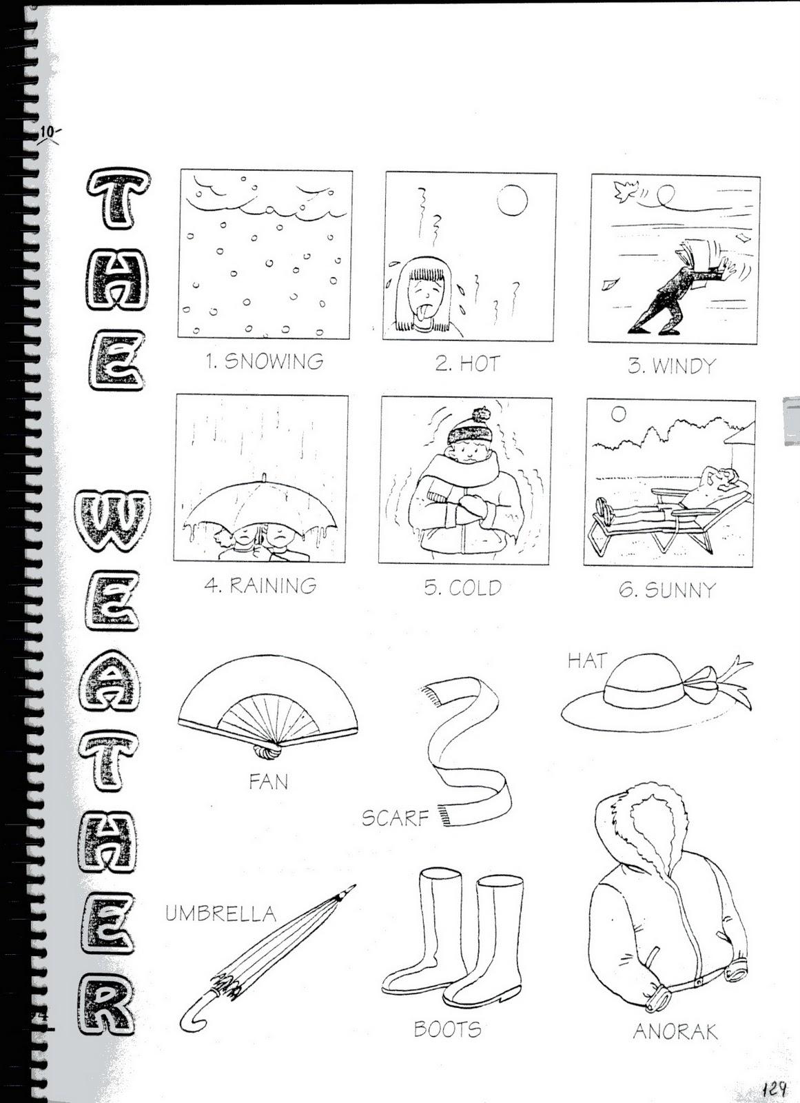 Fichas De Ingles Ficha Weather 6 Weather Vocabulary