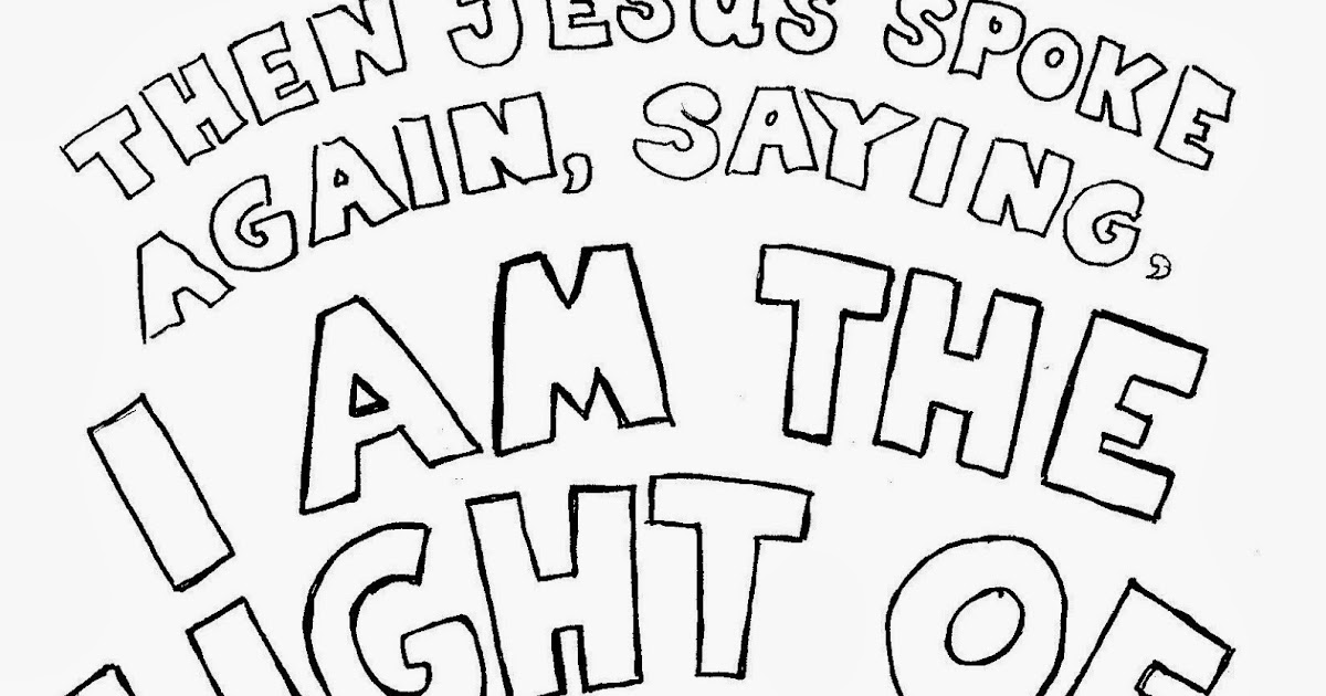 Coloring Pages for Kids by Mr Adron I Am The Light Of