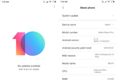 Mudahnya Cara Update MIUI 10 Hp Xiaomi Redmi Note 5 Pro Via Updater