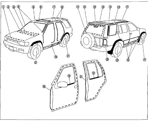 repair-manuals: Nissan Pathfinder R50 1998 Repair Manual