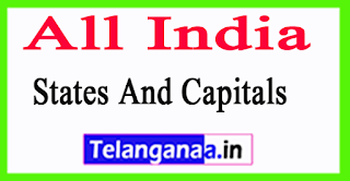 All India States And Capitals