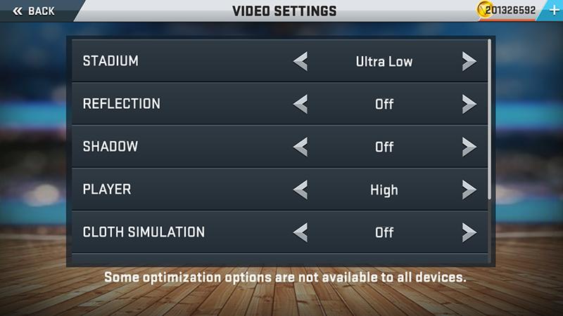 NBA 2K17 settings