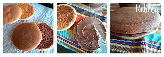 Receta de dorayakis con chocolate (tortitas japonesas rellenas) 04