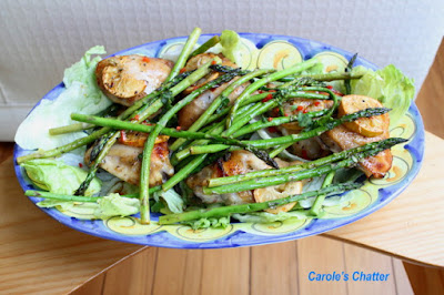 Carole's Chatter: Honey Lemon Chicken with Asparagus