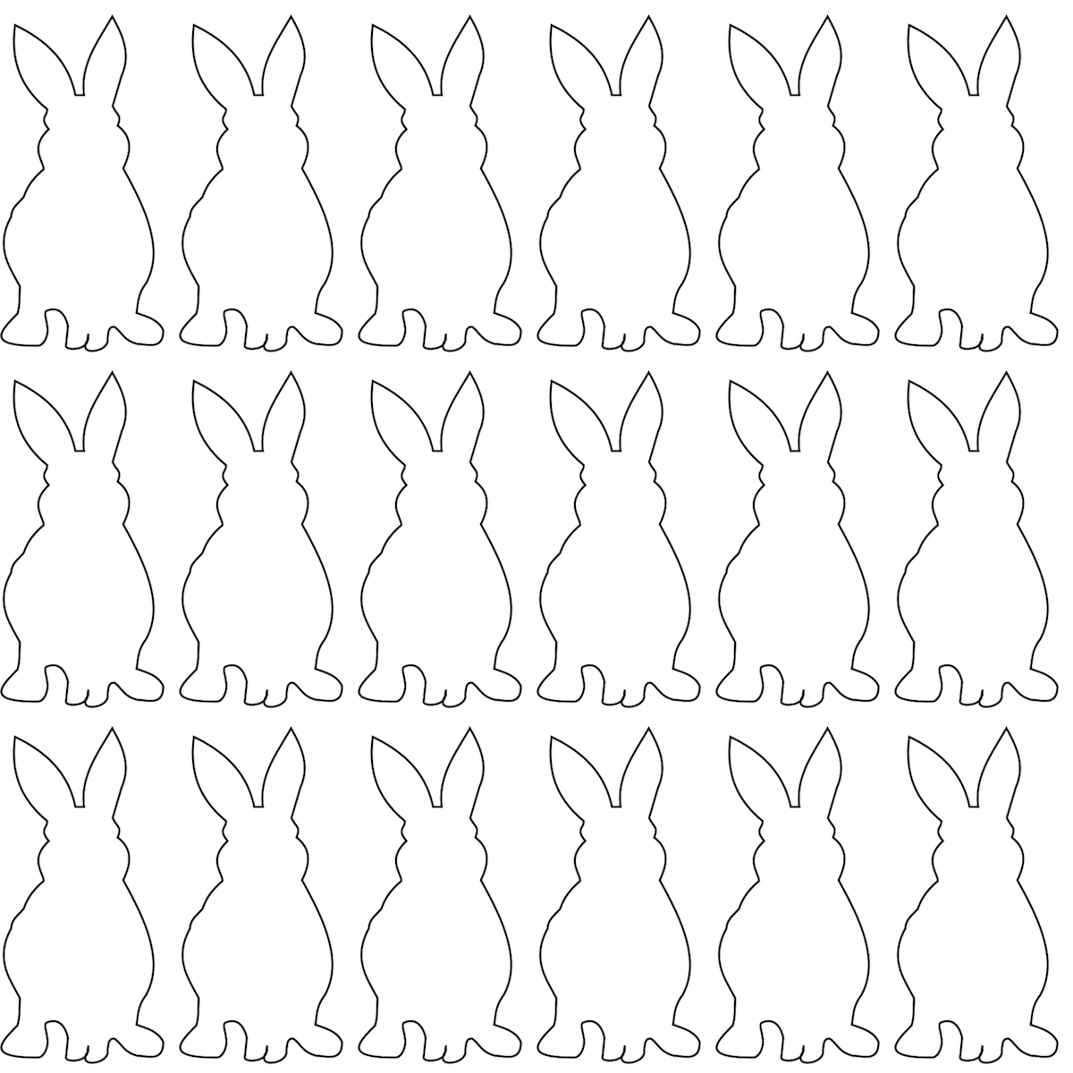 free digital bunny shapes scrapbooking paper