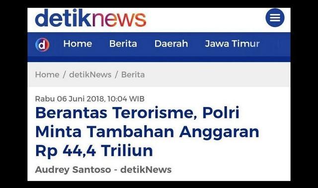 Polri Minta Tambahan Anggaran Rp 44 Triliun Untuk Berantas Terorisme, Ini Tanggapan Mustofa Nahra