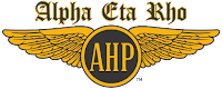 Alpha Eta Rho (AHP) International Aviation Fraternity Logo and Wings