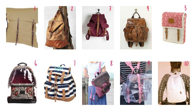 10 cool backpacks