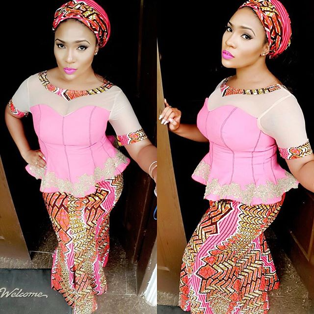 simple pleated ankara style