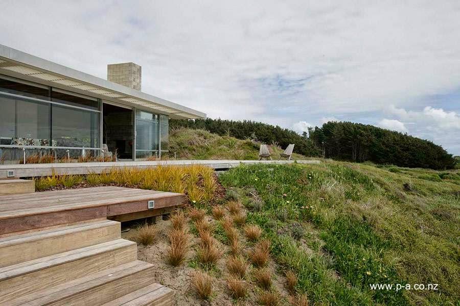 Sector de la casa frente al mar en Nueva Zelanda