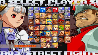 Street Fighter 30th Anniversary Collection - Street Fighter Alpha 3 Max on PSP -  Character select screen