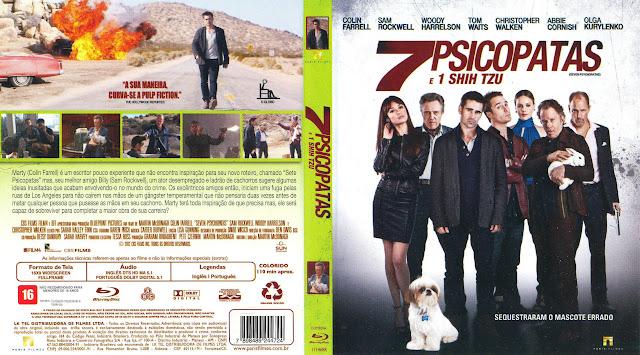 Capa Blu-ray 7 Psicopatas e 1 Shih Tzu