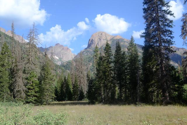 mountains around Johnson Creek