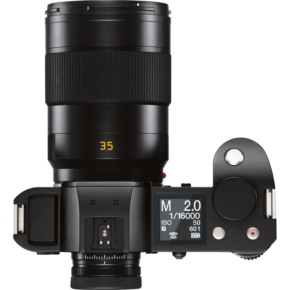 Объектив Leica APO-Summicron-SL 35mm f/2 ASPH и камера Leica SL, вид сверху