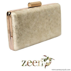 Kate Middleton carried Zeen Cream Gleam clutch