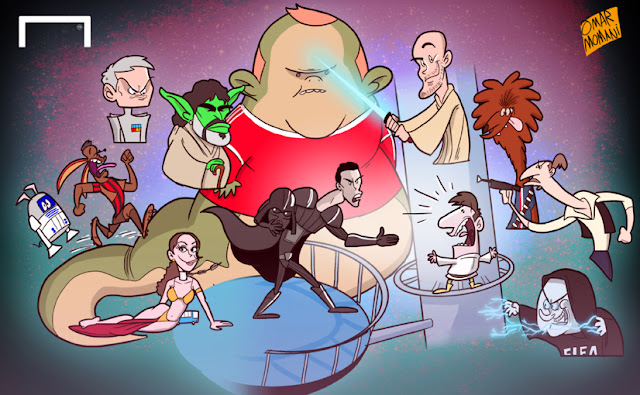 Star Wars football cartoon
